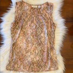Chico's Silky sleeveless dress top